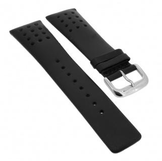Bruno Banani Gents Ersatzband 25mm in schwarz aus Leder mit Lochmuster GT5