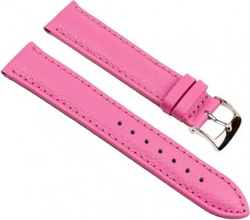 Eulit Fancy Fashion Uhrenarmband Rindsleder Band Pink 25478S