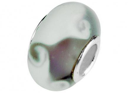 Charlot Borgen Marken Damen Bead Beads Drops Kristallglas Silberkern GPS-52Violett