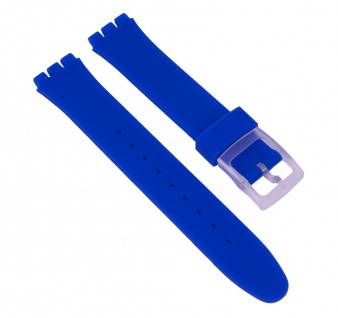 Minott Uhrenarmband Silikon Band Blau passend zu Swatch Uhren Gent 17 mm 27180