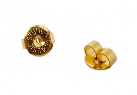 Minott Erstohrstecker Stopper - Ohrstecker-Verschluss - Ohrmutter aus Edelstahl vergoldet - 29071