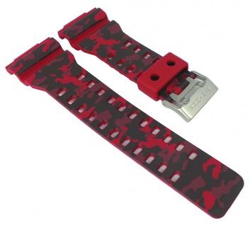 Herrenuhrarmband Casio | Ersatzband rot für G-Shock Resin camouflage Series für GA-100CM | GD-120CM