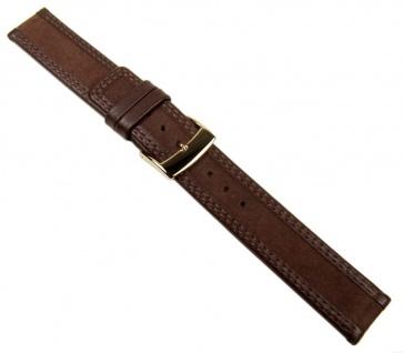 Balance Uhrenarmband Velour- und Glattleder Braun 20594G
