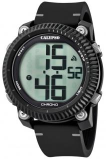 Calypso | Herrenarmbanduhr Quarzuhr Digitaluhr Kunststoffuhr mit Alarm Stoppuhr schwarz/grau K5731/1