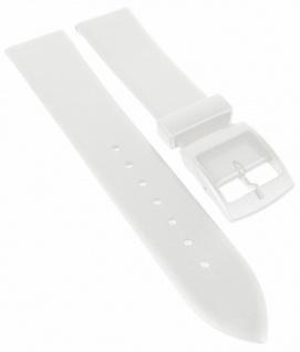 HIRSCH | Uhrenarmband > Kunststoffband > Kunststoff Dornschließe | weiß | 36823