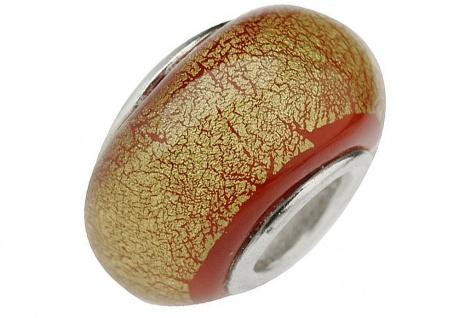 Charlot Borgen Marken Damen Bead Beads Drops Kristallglas Silberkern GPS-14Rot