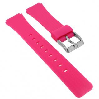 Calypso Ersatzband aus Silikon in pink mit Schließe silberfarben Spezial Anstoß K5743/4