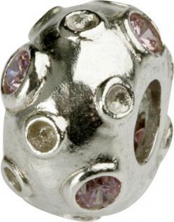 Charlot Borgen Marken Damen Bead Beads Drops Silber mit Zirkonia SCZ-14-Rosa