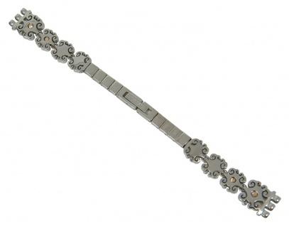Uhrenarmband Ersatzband Edelstahl silbern Crystal Lace Swatch LK294G 12mm 27419