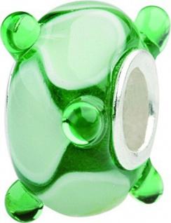 Charlot Borgen Marken Damen Bead Beads Drops Kristallglas Silberkern GPS-37Grün