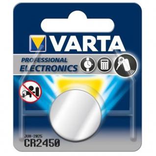 Varta Knopfzelle Batterie 3V Ersatzbatterie CR2450 Lithium für Armbanduhren 34292