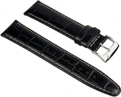 Festina Uhrenarmband Leder Band 21mm schwarz in Kroko-Optik für F16372/1