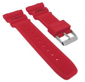 Calypso Ersatzband rot Kautschuk Spezial Anstoß Schließe silberfarben K5764/2 K5764