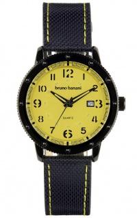 Bruno Banani Geros Armbanduhr Edelstahl schwarz Quarz 3ATM Datum BR30033
