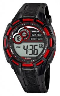 Calypso Armbanduhr Herrenuhr Digitaluhr Chrono schwarz/Rot 10 ATM K5625/4