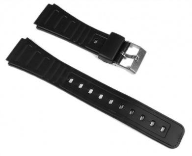 MInott Uhrenarmband Kunststoff Band 18mm schwarz 16403