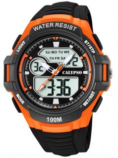 Calypso Digital Armbanduhr PU-Band schwarz Kunststoff Quarzwerk Analog Digitaluhr K5770/2 K5770