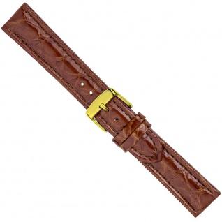 Uhrenarmband Ersatzband Leder Band Braun 26579G