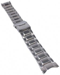Casio Armband | Uhrenarmband Edelstahl Band Silberfarben für Edifice EF-559D