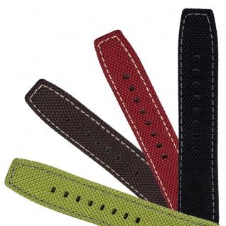 Festina Uhrenarmband Ersatzband Leder/Textil Band mit heller Kontrastnaht 24mm für alle Modelle F16584
