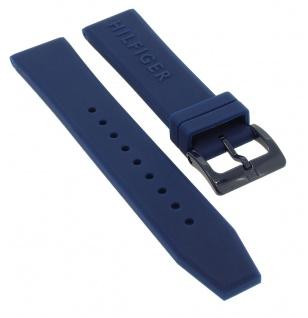 Tommy Hilfiger Ersatzband 20mm Uhrenarmband 679302004 Silikon Band blau 1791322