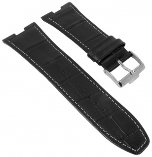Jacques Lemans Dallas   Uhrenarmband Leder Band mit Krokoprägung für Modell 1-1336