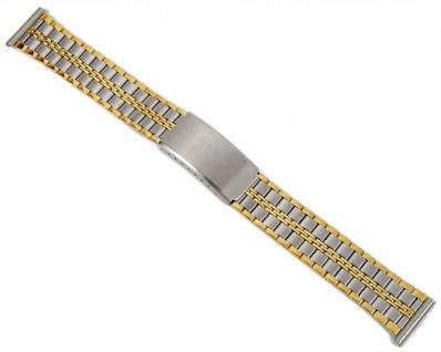 Uhrenarmband Edelstahl Bicolor IP Gelbgold 18mm 20mm