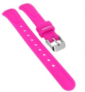 Calypso Ersatzband aus Silikon in pink mit Schließe silberfarben Spezial Anstoß => K6070/5