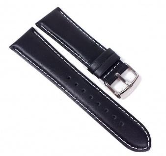 Casio Uhrenarmband Leder Band schwarz 24mm für AMW-105