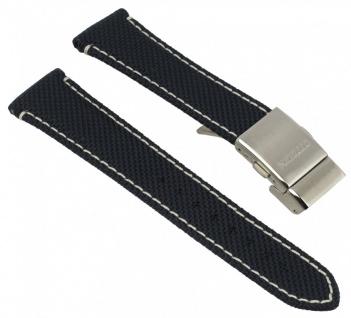 Citizen Uhrenarmband - Ersatzband aus nachtblauem Textilgewebe mit weißer Naht 22mm - für Promaster Herren Funk-Chrono AS4041-01L