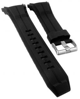 Calypso Ersatzband schwarz Kunststoff Dornschließe silberfarben Spezial Anstoß K5687/1 K5687