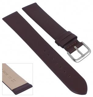 Minott Uhrenarmband Leder Band XL dunkelbraun ohne Naht weich glatt 29683