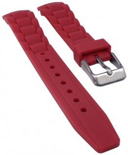 s.Oliver Uhrenarmband Silikon Band weich 17mm rot SO-2594-PQ