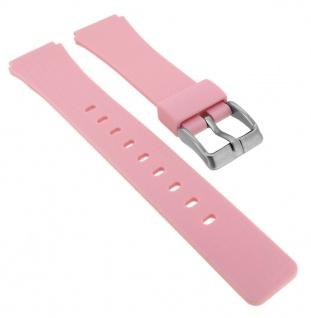 Calypso Ersatzband aus Silikon in rosa mit Schließe silberfarben Spezial Anstoß K5743/3