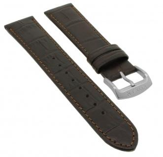 Citizen Automatic Ersatzband 20mm Uhrenarmband Leder Band braun Titanschließe Naht NJ0090