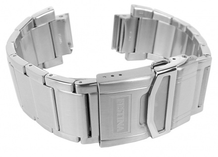 Festina Chrono Ersatzband 17mm aus Edelstahl matt gebürstet mit Sicherheitsschließe F16775