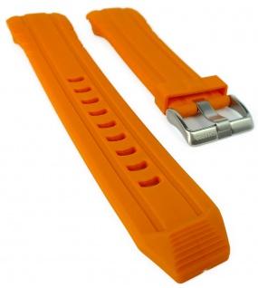 Calypso Ersatzband orange Kunststoff Dornschließe silbern Spezial Anstoß K5697/3
