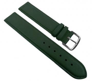 Herzog Ersatzband Uhrenarmband 12mm - 30mm   Kalbsleder, dunkelgrün mit Naht 32235S