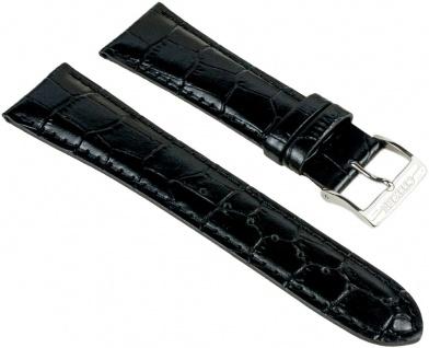 Citizen Ersatzband Leder Band schwarz 22mm mit Kroko-Optik für BF0580-06E BF0580-14AE
