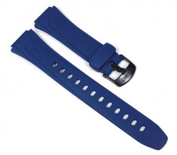Casio Uhrenarmband Resin Band Blau für W-734