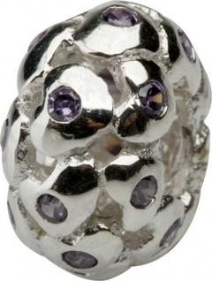 Charlot Borgen Marken Damen Bead Beads Drops Silber mit Zirkonia SCZ-24-Lila