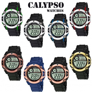 Calypso Herren Quarzuhr Kunststoff Alarm-Chronograph digital Modell K5577