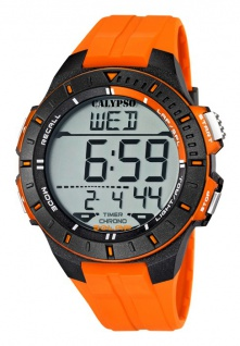 Calypso Herrenarmbanduhr Quarzuhr Kunststoffuhr Alarm-Chronograph digital alle Modelle K5607