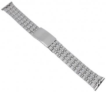 Minott Edelstahl Band Ersatzband 20mm Uhrenarmband Herren silberfarben 29761S