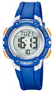 Calypso Kinderarmbanduhr Quarzuhr Digitaluhr Kunststoff blau mit 2. Zeitzone Alarm Stoppfunktion K5739/2