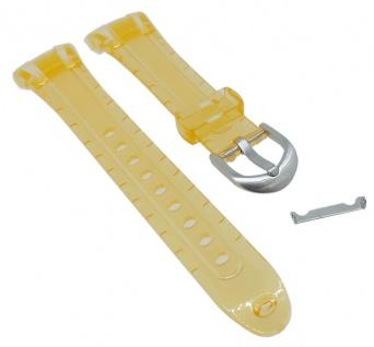 Calypso Ersatzband Kunststoff gelb transparent Dornschließe silbern K5688/6