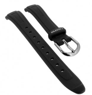 Calypso Ersatzband aus Kunststoff in schwarz mit Schließe silberfarben Spezial Anstoß ? K6067/4