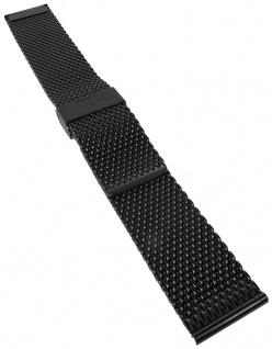 Casio Armband | Uhrenarmband Edelstahl Band IP-Schwarz für Collection MTP-1350BD