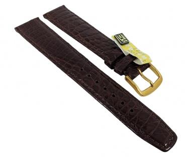 Graf Manufaktur Bahamas XL Ersatzband echt Krokodil Leder dunkelbraun 793.2.11 - 27560