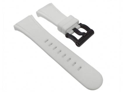 TW STEEL Uhrenarmband Silikon Band Weiß mit Titanschließe für CE5003